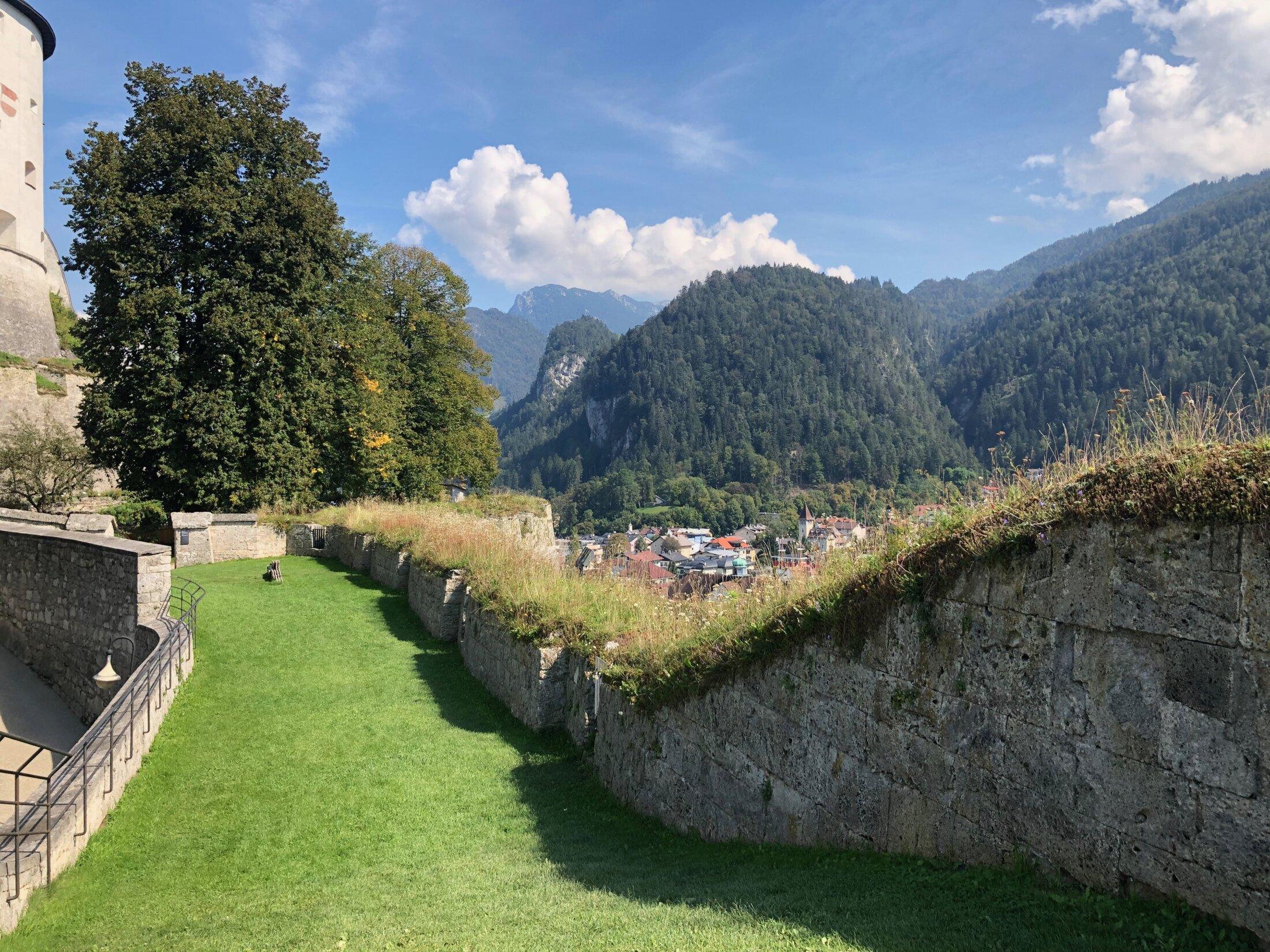 Außenbereich der auf der Festung