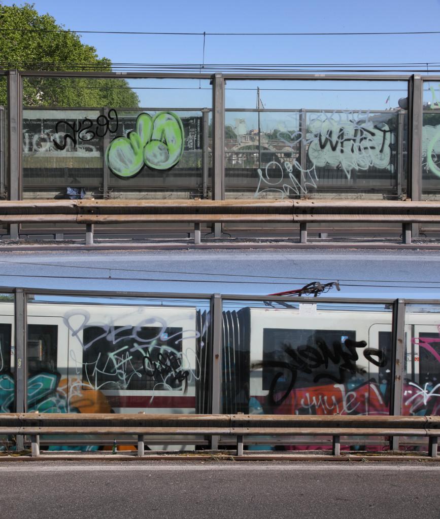 Graffiti mit Metro