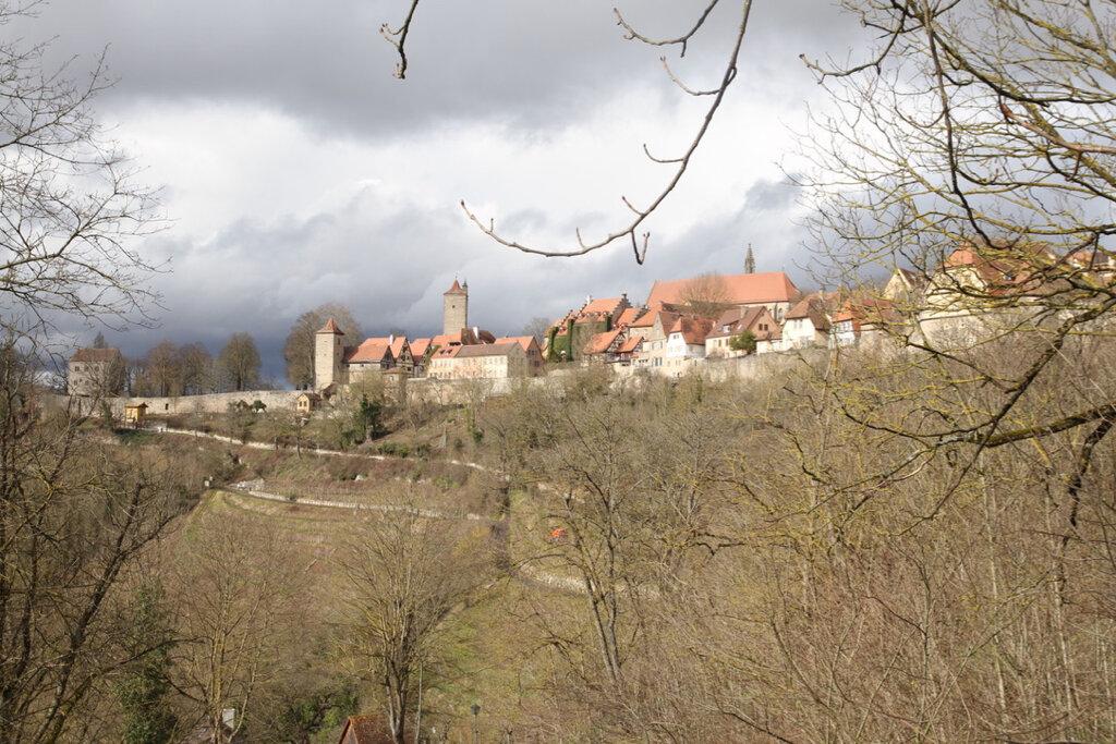 Blick auf Rothenburg
