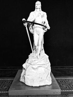 Skulptur des Tods mit Sense