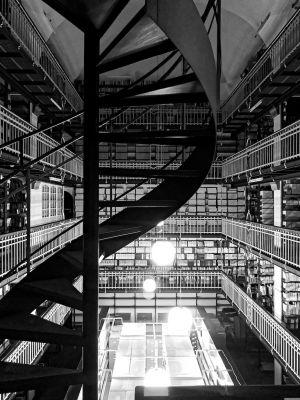 Bücherraum in der Königlichen Bibliothek Kopenhagens