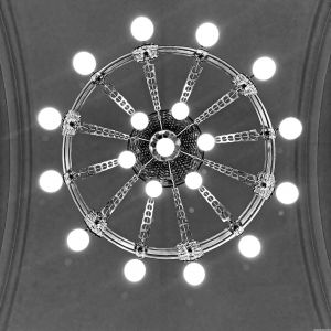 Leuchter von unten