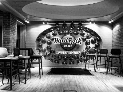 Beschriftung Hard Rock Cafe Copenhagen