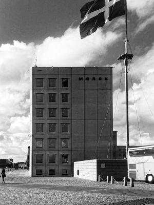 Seitenansicht des Maersk Hauses