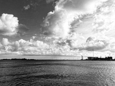 Windräder im Öresund