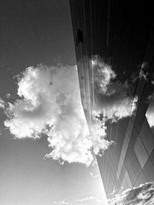 Wolkenbild in der Bibliothek