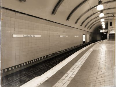 Der Bahnsteig einer U-Bahnstation