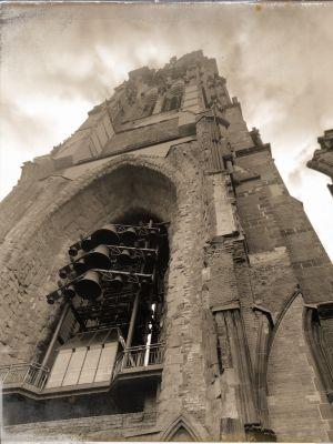 Die Glocken im Turm des Mahnmals St. Nikolai