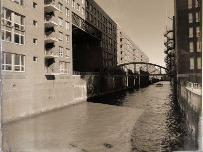 Kanal mit Speicherhäusern und dem Kehrwiedersteg
