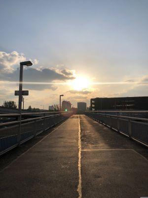 Fußgängerübergang bei Spittelau