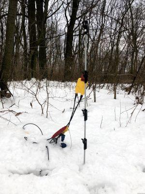 Geophone im Schnee